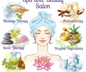 Spa beauty salon vector