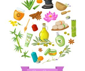 Spa product background vector