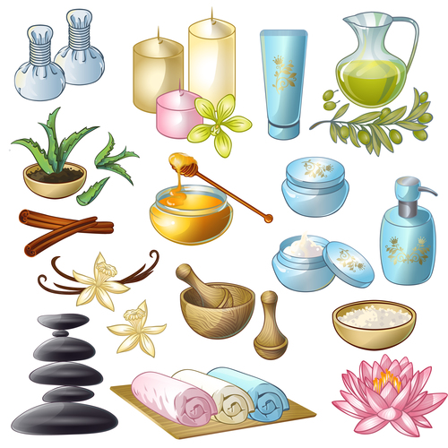 Spa products vector