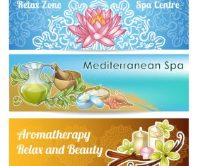 Spa salon banner vector