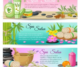 Spa salon vector composition