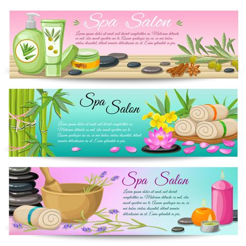 Spa salon vector composition