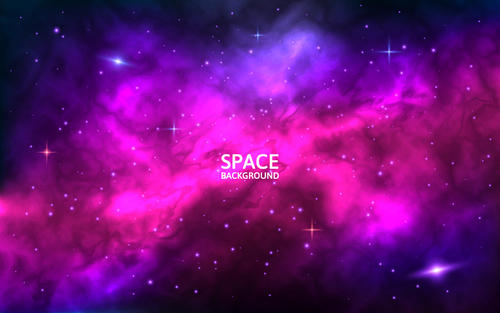Space beautiful background vector