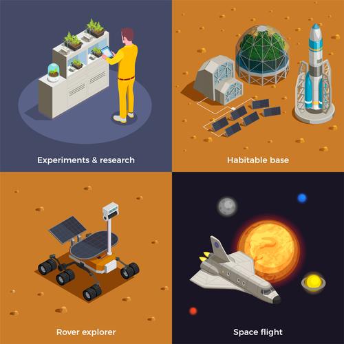 Space icon vector