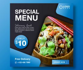Special menu cover vector