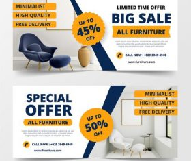 Special offer furniture sales vector
