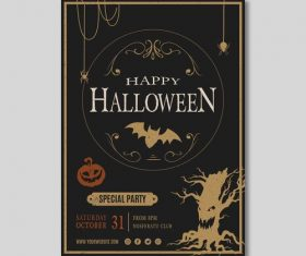 Special party halloween flyer vector
