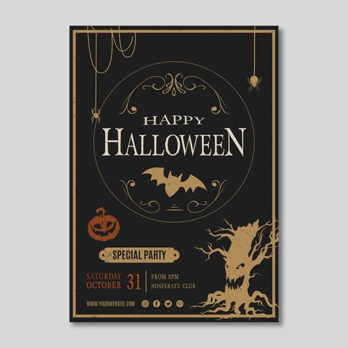 Special party halloween flyer vector