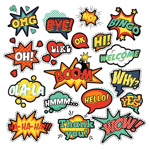 Speech comic pop art vector