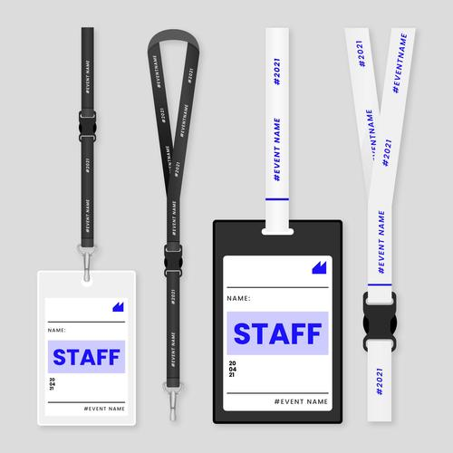 Staff ID card stationery vector