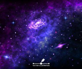 Starry swirl background vector