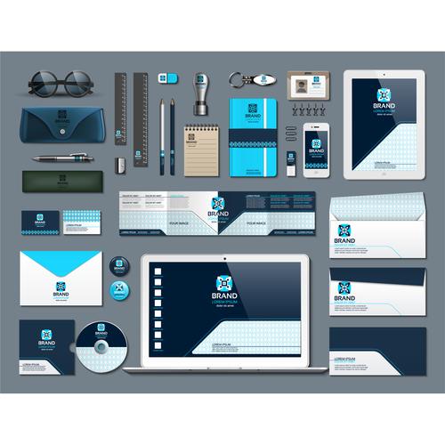 Stationery set vector