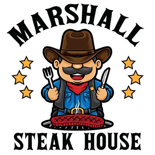 Steak house icon vector