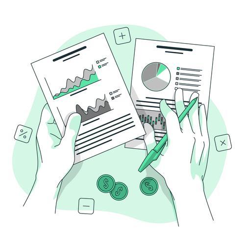 Stock market analysis vector