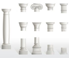 Stone pillar top vector
