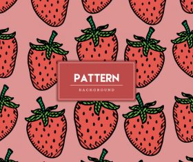 Strawberry decorative seamless pattern background vector