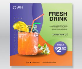 Summer drink cover vector