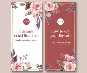 Summer ried floral set banner vector