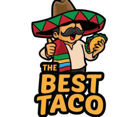 The best taco vector icon