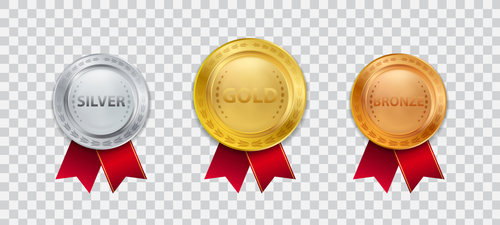 Three badges vector