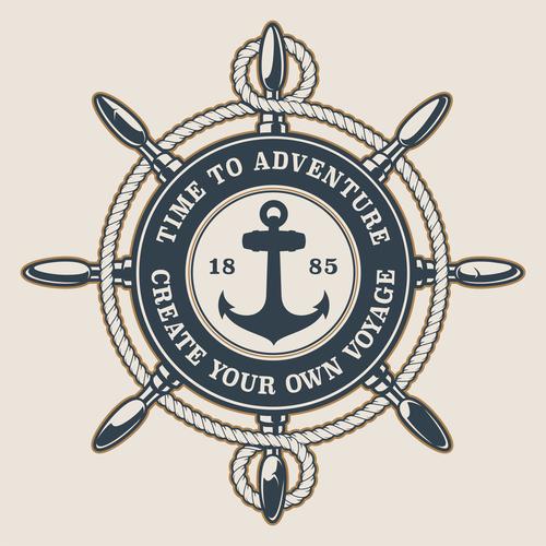 Time to adventure logo vector