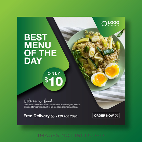 Today recommended menu cover vector