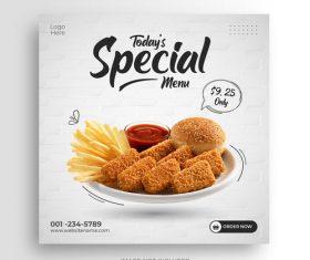 Todays special burger set vector