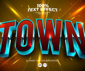 Town highlights the font effect vector
