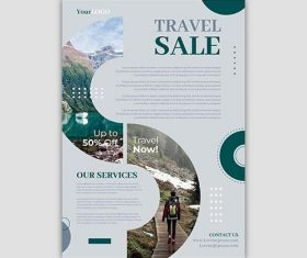 Travel Sale Flyer Template Concept vector