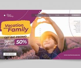Travel Sale Landing Page Template vector