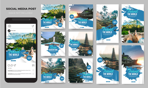 Travel promotion vector