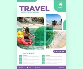 Travel sale flyer with photo vector