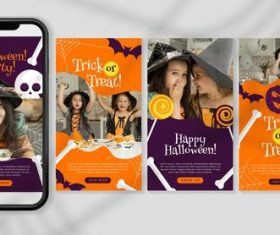 Trick or treat halloween festival instagram illustration vector
