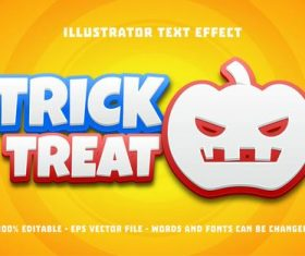 Trick treat editable font effect text vector