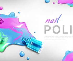 Tricolor nail polish flyer vector