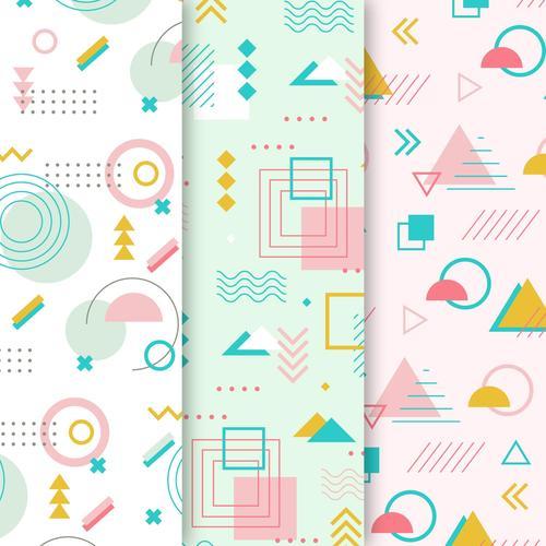 Tricolor pattern background banner vector