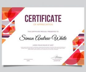 Two-color background certificate template vector