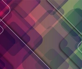 Two-color background overlapping graphics vector