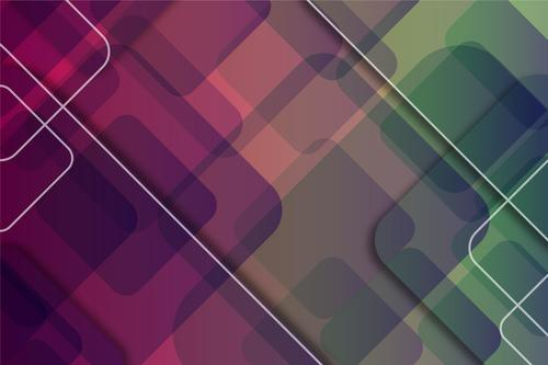 Two color background overlapping graphics vector
