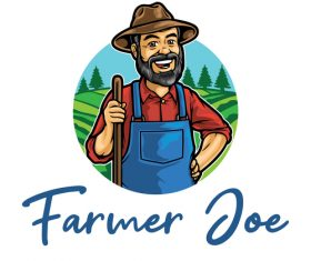 Vector icon happy farmer