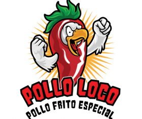 Vector icon pollo loco