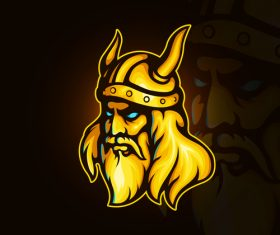 Viking Warrior emblem gaming vector