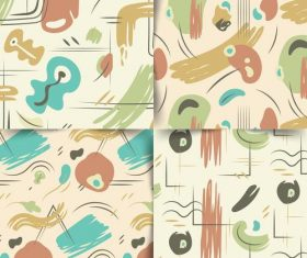 Watercolor abstract seamless background vector