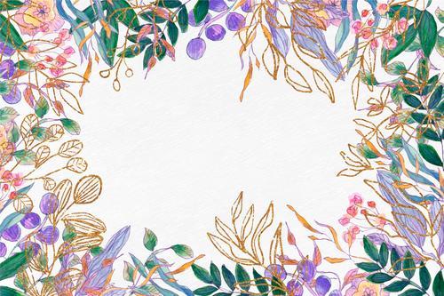 Watercolor art background vector