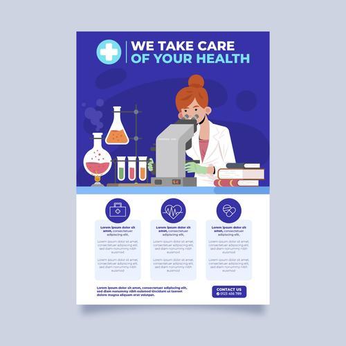 We take care of your healte cartoon vector