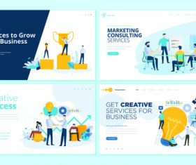 Website page isometric vector