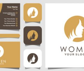 Women logo and business card design