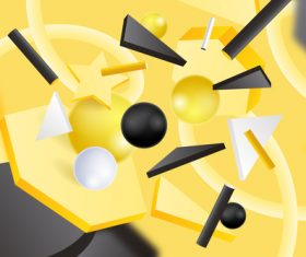 Yellow background 3D graphic vector