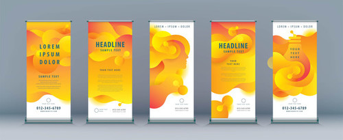 Yellow background business banner design vector
