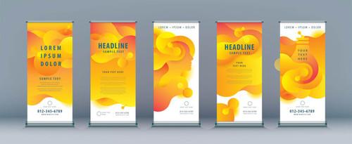 Yellow background business banner design vector